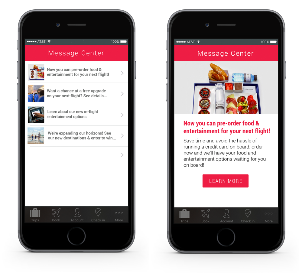 airline-app-in-app-message-center-inbox-screenshot