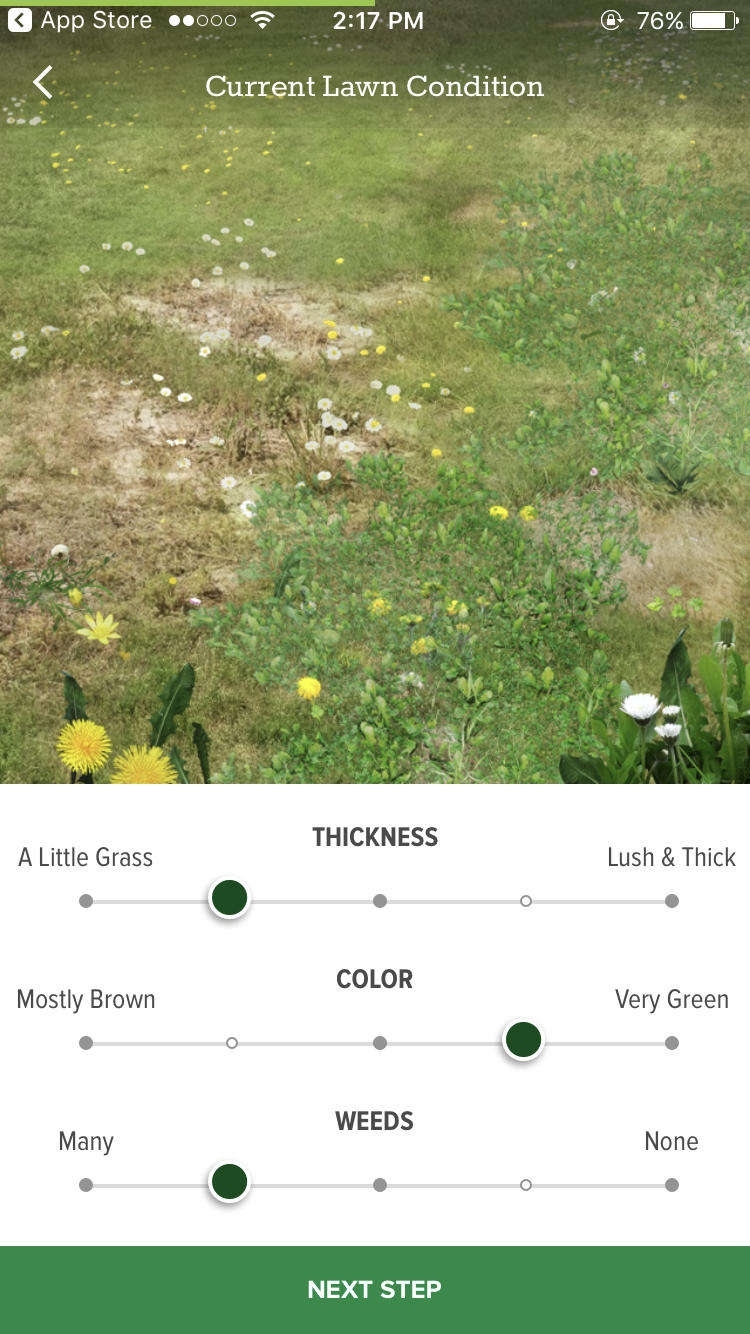current-lawn-condition-scotts-my-lawn-app-screenshot