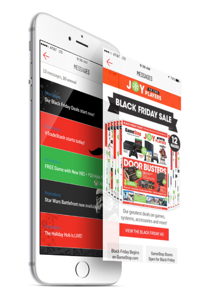 game-stop-example-of-in-app-message-center-customized-for-black-friday-holiday