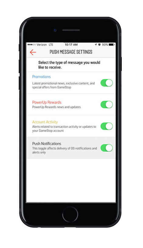 gamestop-app-push-notification-preference-center-personalized-push