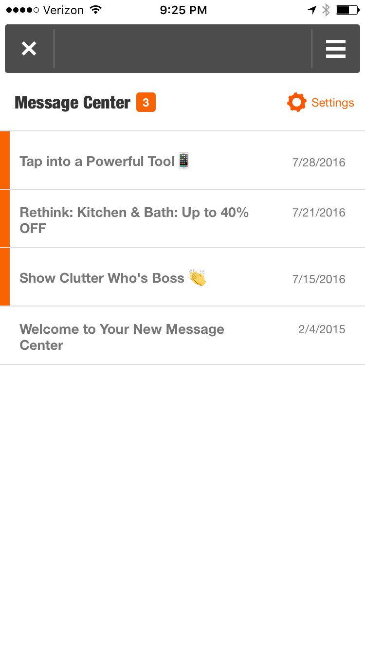 home-depot-in-app-message-center-in-box-screenshot