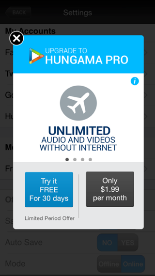 hungama-pro-full-page-in-app-marketing-message-example-screenshot
