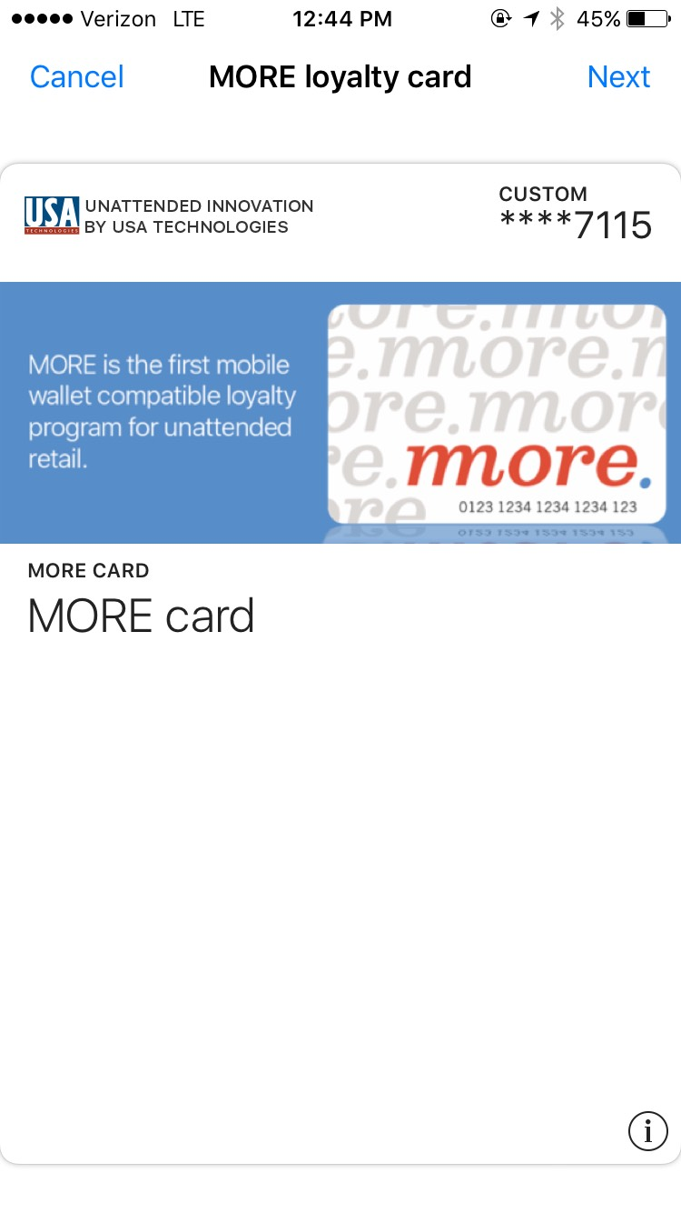 more-loyalty-program-card-in-mobile-wallet-us-technologies-apple-pay-urban-airship-screenshot