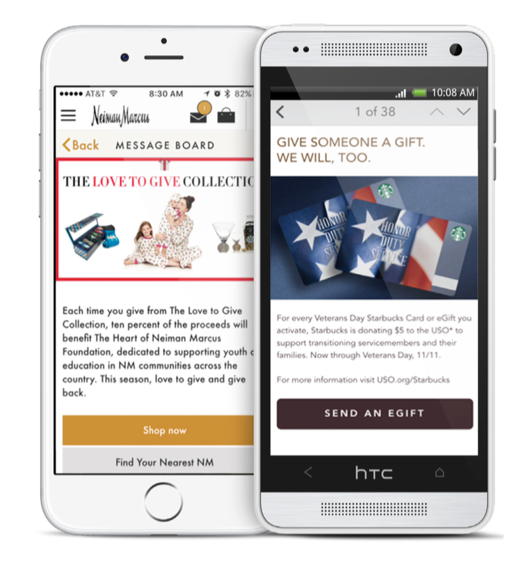 starbucks-and-neiman-marcus-use-in-app-message-center-to-promote-charitable-giving-programs