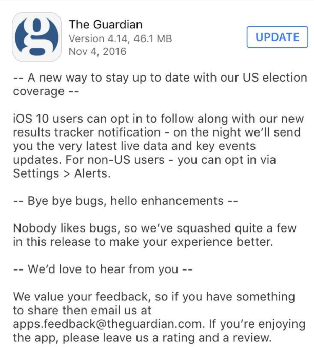 the-guardian-app-store-update-new-features-and-feedback-request-screenshot