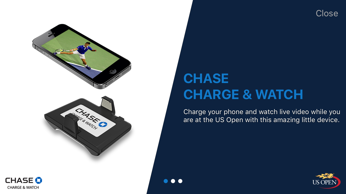 us open app charge and watch replays screenshot