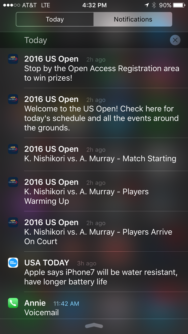 us open app notifications screenshot