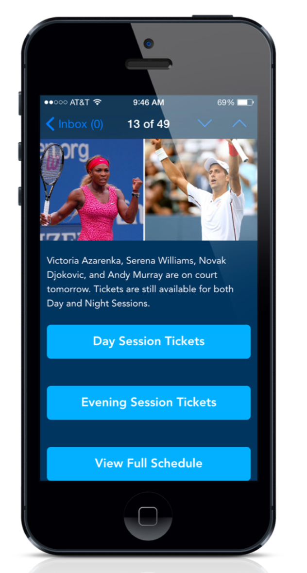 us-open-ticket-offer-in-app-message-center-deep-linking-example
