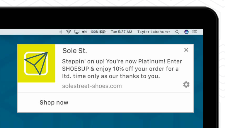 web-push-example-transactional-loyalty-program-reward